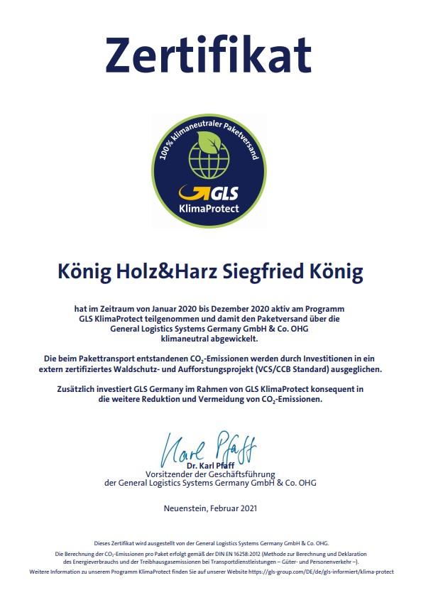 Zertifikat-GLS